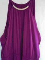 New LANE BRYANT 90 Simply Chic Metal Necklace Halter Maxi Dress Plus 22/24 3X FS