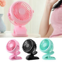 360° Mini USB Fan Air Cooling For Baby Stroller Cot Car Travel Office Gym