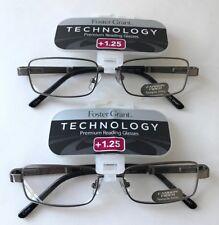 LOT OF 2 - Reading Glasses Foster Grant Jagger Gun +1.25 NEW