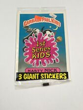 1986 Topps Garbage Pail Kids Giant Series 1 Stickers Nasty Nick SEALED! GRAIL