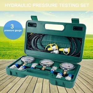 Hydraulische Manometer Tester Kit 8700PSI Starke Hydraulikdruck Für Bagger DE
