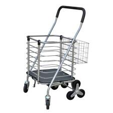 Milwaukee Janitorial Cart Rotating 3-Wheel Swivel Casters Grip Handle Silver