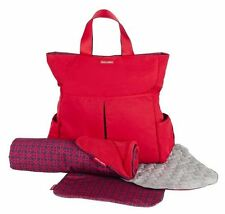MacLaren Smart Sets Changing Diaper Bag, Chain Link Scarlet - New with Tags
