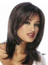 NEW241  charming medium fashion dark brown wig health hair wigs for women
