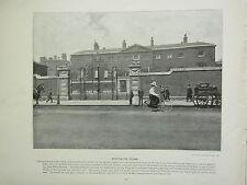 1896 VICTORIAN LONDON PRINT + TEXT ~ DEVONSHIRE HOUSE