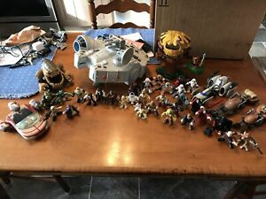 Large lot of Star Wars Galactic Heroes Figures Toys & Vehicles