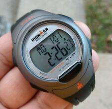 "TIMEX IRON-MAN WATCH wristwatch grey rubber band 9"" long"