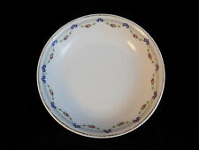TK CZECHOSLOVAKIA China Porcelain shallow dish gold rimmed rose flower pattern