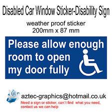 Permettre Assez Room To Open Porte Espace Vitre Voiture Handicapé Signe