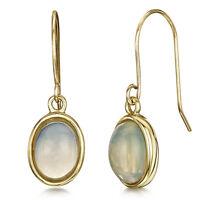 9ct Gelbgold Ohrringe Opal Ohrhänger