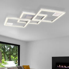 LED Luxus Decken Lampe silber Wohn Zimmer Beleuchtung Kristall Design Leuchte