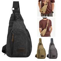 Men's Outdoor Canvas Satchel Messenger Bag Shoulder Bag Travel Hiking Backpack