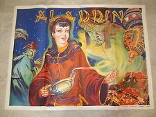 Original Old Vintage 1930's - ALADDIN - THEATRE Show POSTER - Pantomime