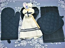 KITCHEN ANGEL BLESS OUR GALLEY GIFT SET WITH KITCHEN TOWEL OVEN MITT