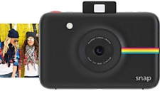 Zink Polaroid Snap Instant Digital Camera (Black) With Zink Zero Ink Printing Te