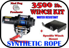 3500lb Mad Dog Synthetic Winch/Mount Kit for Yamaha Rhino 450 / 660 / 700 4x4