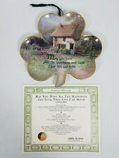 Franklin Mint Hilary Scoffield Shamrock Clover Wall Plate Happiness Luck w/Coa