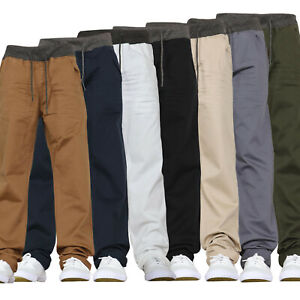 Kids Stretch Jeans Chinos Elasticated Pull on Pants Trousers New