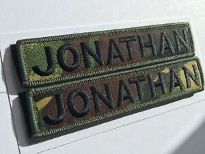 """1 X Custom Name Patch Badge Embroidered 5""""X 1"""" Hook And Loop AirSoft Paintball"""