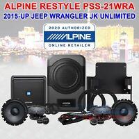 ALPINE PSS-21WRA DIRECT-FIT SPEAKER SYSTEM FOR 15-UP JEEP WRANGLER JK UNLIMITED
