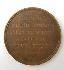 Médaille souvenir vendu par Deveaux Dentiste a Angoulême.  (AV724)