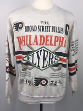New listing Vtg 90s Philadelphia Flyers 1974 Tribute Gray 2 Sided Nhl Sweatshirt Usa Xl