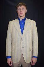 Vintage Men's 50's 60's VAUGHN Silk Linen Stripe Rockabilly Sport Coat Blazer 42