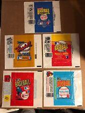 Donruss Baseball Wax Wrappers, 1981, 1983, 1985-1987, 5 Total