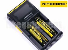 Nitecore D2 Digicharger LCD+2x NI18650A 30A  IMR Battery Charger EU+12v Car