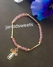 12PC Communion Party Favors Pink Bracelet Recuerdos De Mi Bautizo Giveaways Girl