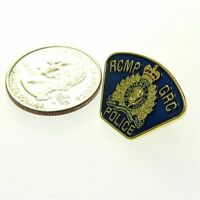 "Canada RCMP GRC Royal Mounted Police Patch Shoulder Flash Lapel Pin 1"" Tie Tac"