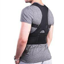 Unisex Adjustable Posture Back Support Corrector Brace Shoulder Straps Belt NEW