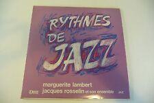 RYTHMES DE JAZZ LP MARGUERITE LAMBERT JACQUES ROSSELIN DISQUES DEVA + INSERT