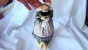 "Antique JSB Dulwich England 9"" Figurine Women Sewing 1927 RARE"