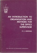 An introduction to Organisation and Methods for... - R G Anderson - Acceptabl...