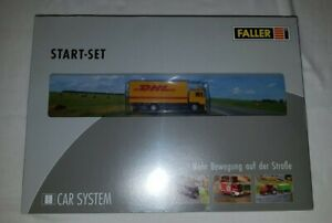 Faller Car System 161607 DHL Lorry Starter Set - HO Gauge - BNIB