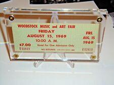 WOODSTOCK $7.00 MAIL ORDER 1969 FRIDAY TICKET THE WHO JIMI HENDRIX JANIS JOPLIN