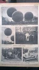 1910 21 Hannover Taufe Ballon Pelikan / Hannover Autorennen Tourenwagen