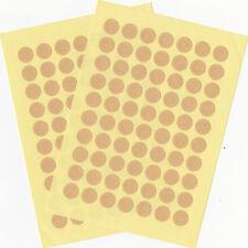 70 Lochverstärker rund 0,9cm Tags bunt oder braun Kraftpapier