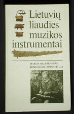 BOOK Lithuanian Folk Music Instrument accordion zither recorder culture history