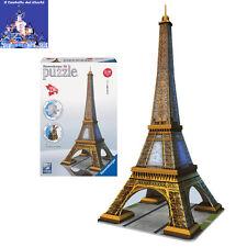 3D Puzzle TORRE EIFFEL Parigi by RAVENSBURGER senza bisogno di COLLA NOVITA 2012