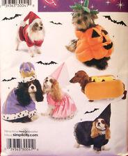 Simplicity 3952 Dog SANTA PUMPKIN HOT DOG WITCH KING Sm-Med Costume Pattern New
