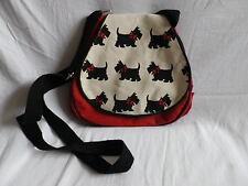 Diseño de perro Gato Negro Rojo De Lona de hombro Bolso. nuevo. de compras o bolso de mano
