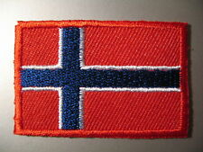 NORWAY Norwegian Flag Small Iron On / Sew Cloth Patch Badge Norges flagg Norge