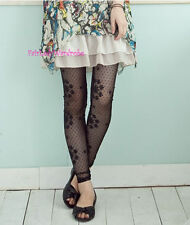 Japan Lace Mesh Dot Pattern Stocking Leggings! Flower