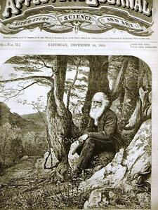 Hennessey THE POET OF OUR WOODS 1869 Art Print Matted