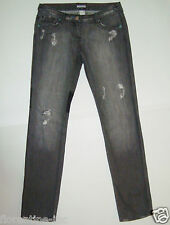 GORGEOUS SASS&BIDE CHARCOAL WASH LOW RISE SKINNY LEG DESTROYED JEANS 28