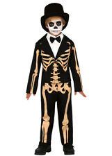 Childrens Halloween Mr Skeleton Suit Costume