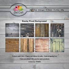 New Dixi Craft 15cm x 15cm Paper Pad Rustiq Wooden Background