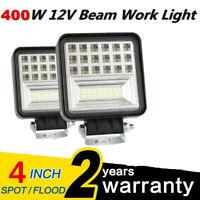 400W 6000K LED Work Light Bar Flood Spot Beam Offroad 4WD SUV Driving Fog Lamp H